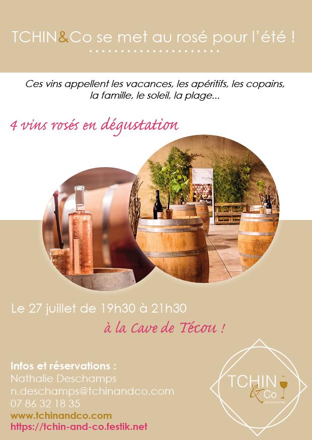 Événement dégustation de vins rosés